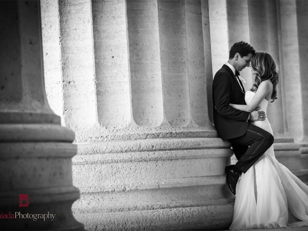 Bride and groom, black and white photography, Renee and John